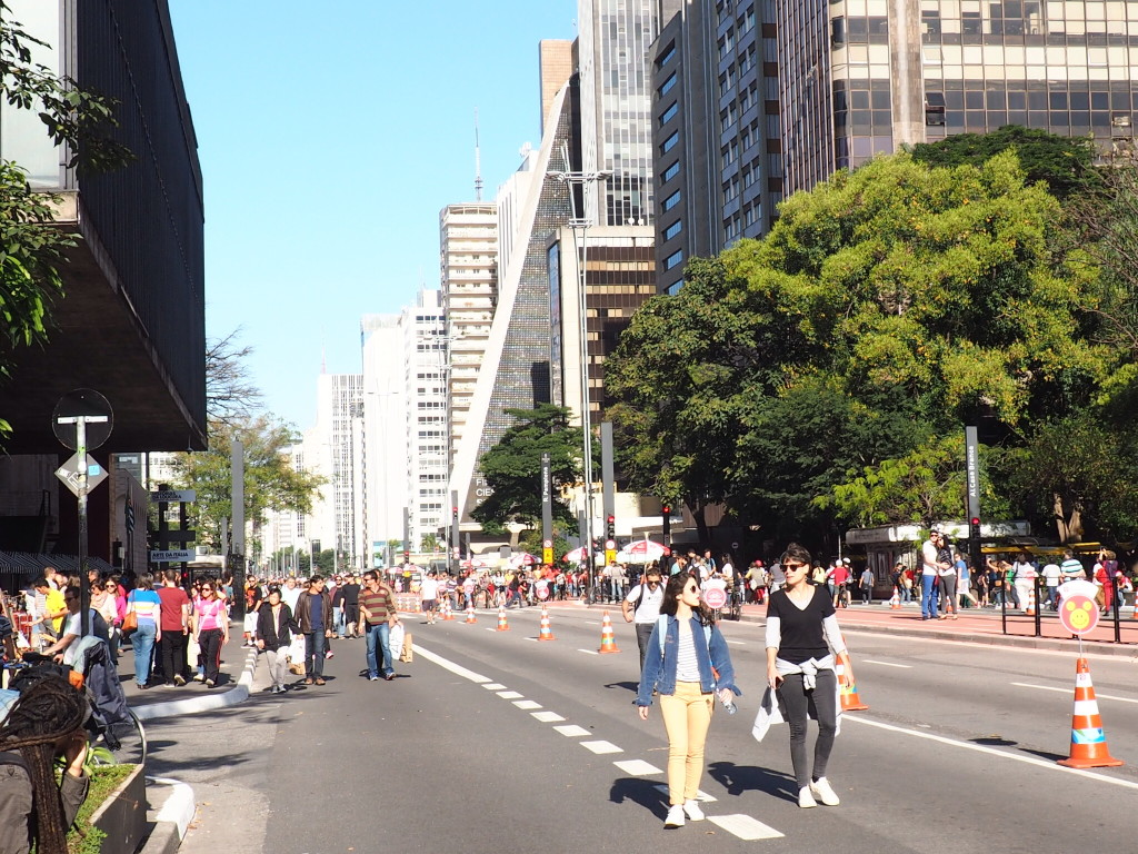 Avenida Paulista aberta (foto: Leandro Beguoci)