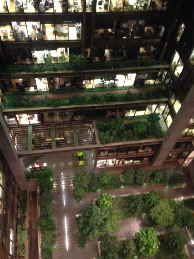 Prédio-jardim da Fundação Ford, em Nova York (foto: Leandro Beguoci)
