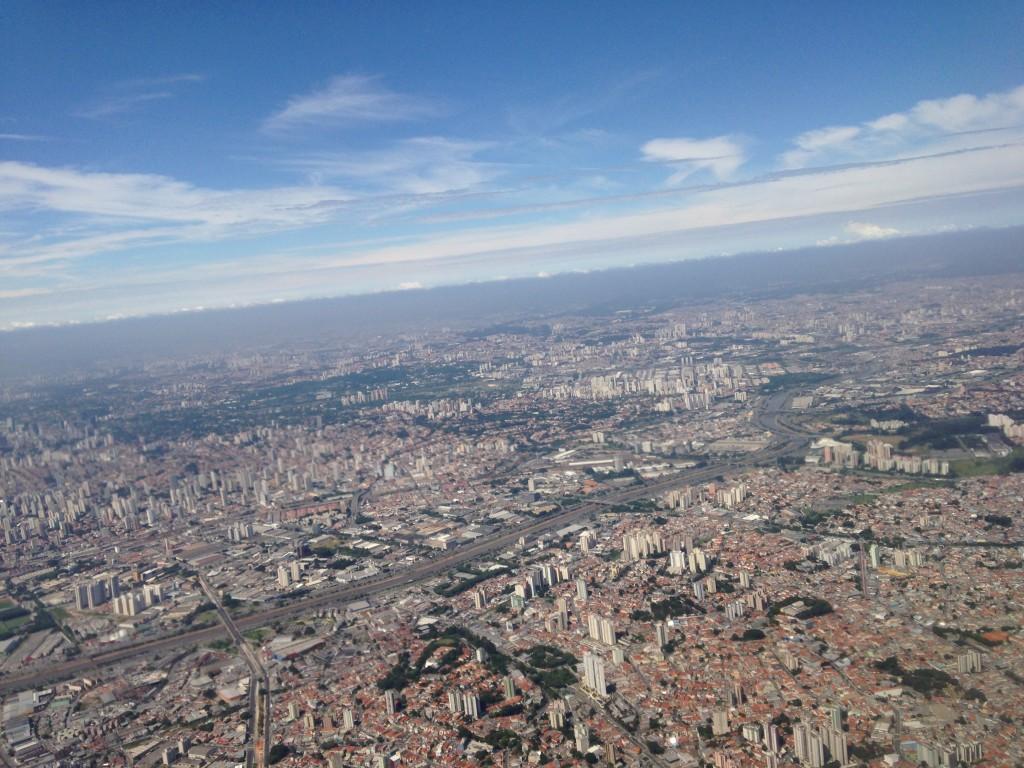 Vista área de São Paulo (foto: Leandro Beguoci)