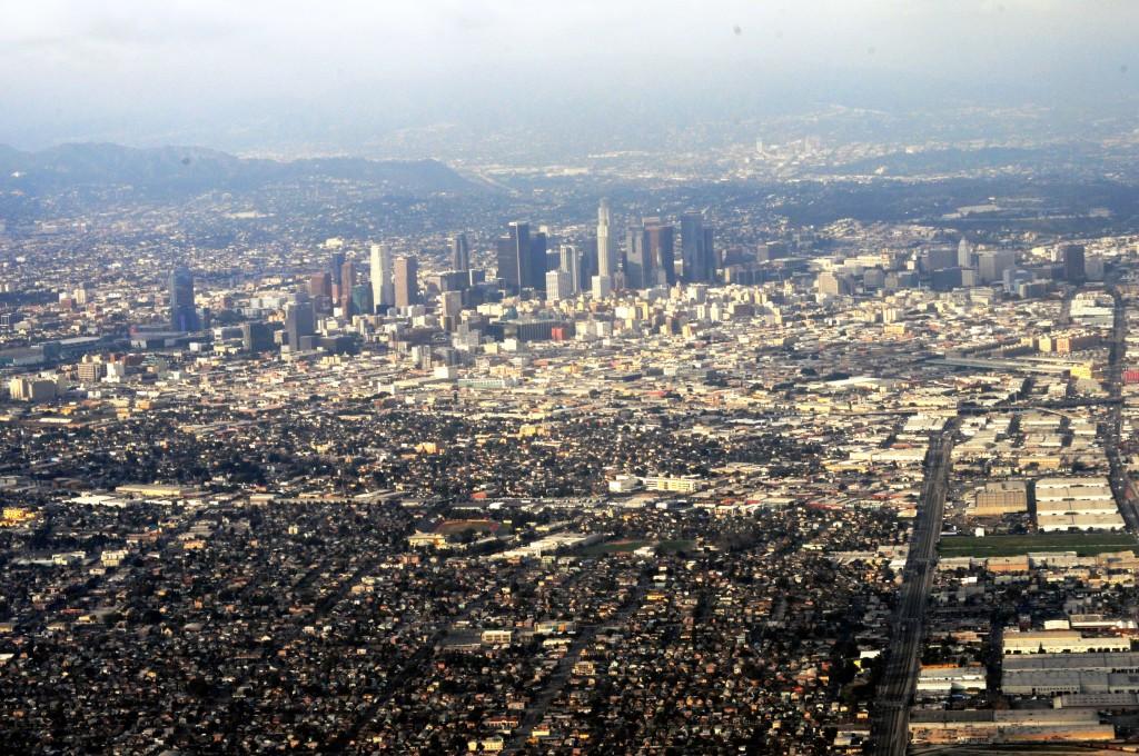 Vista aérea de Los Angeles (foto: Joe Mabel)