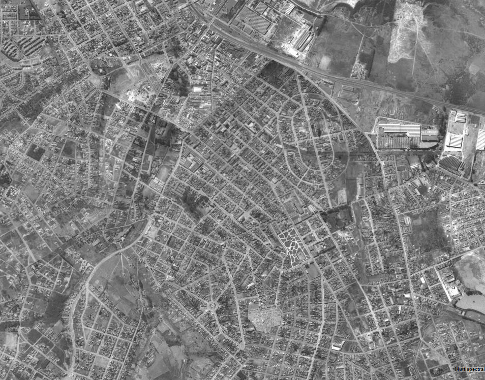 Vista aérea de Santo André em 1958 (fonte: Geo Portal)