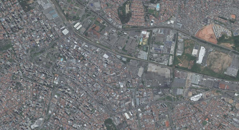 Vista aérea de Santo André em 2008 (Fonte: Geo Portal)