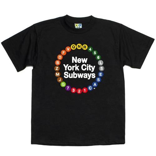 Camiseta com as linhas do metrô de Nova York (foto: divulgação)