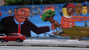 Grafite de Nunca e Osgêmeos na avenida 23 de Maio (Flickr/Pablo Meira)