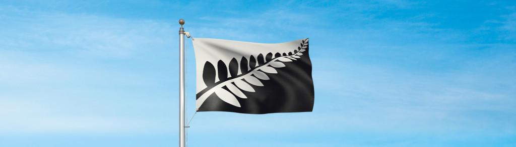 Silver Fern, em proposta de bandeira neozelandesa (Fonte: governo da Nova Zelândia)