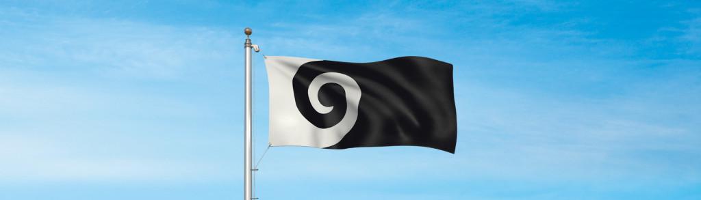 Koru, em possível bandeira neozelandesa (Fonte: governo da Nova Zelândia