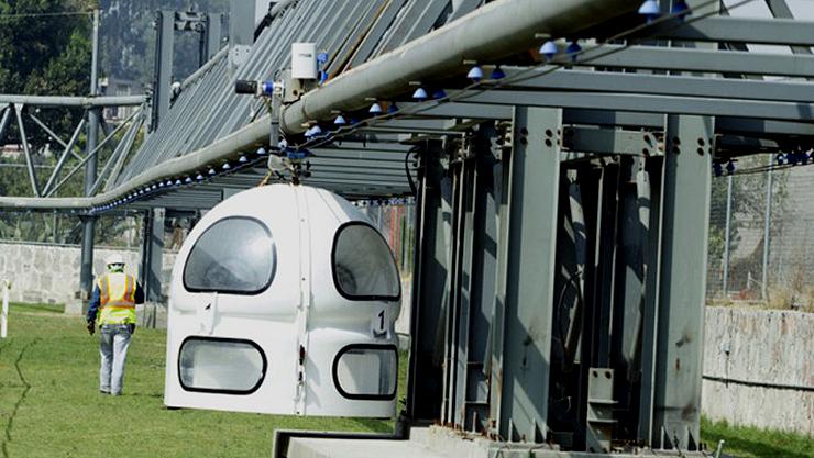 Cabine do Tuep em protótipo apresentado na Cidade do México (Divulgação)