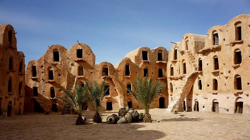Ksar, construção histórica em Tataouine que inspirou arquitetura de Tatooine