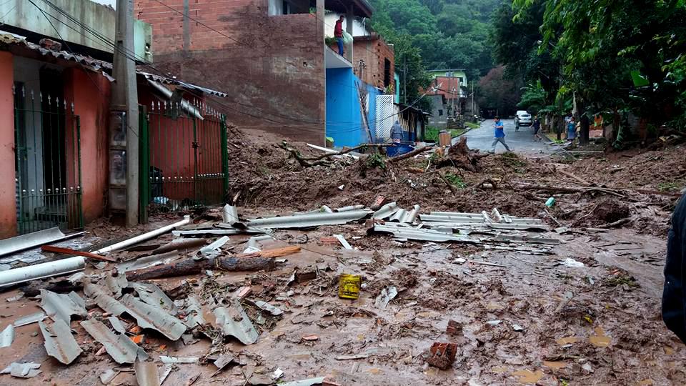 Enchente e deslizamento em Campo Limpo Paulista (Prefeitura de Campo Limpo Paulista)