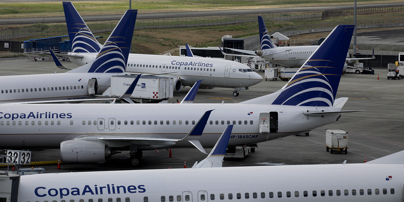 Avioes da Copa Airlines no aeroporto de Tocumén, na Cidade do Panamá (AP Photo/Arnulfo Franco)