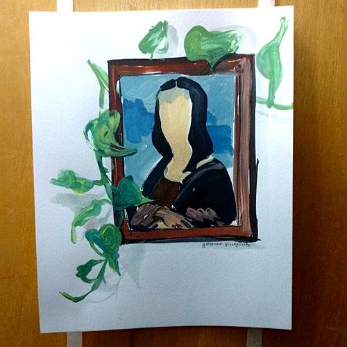 Obra da artista Giovanna Pizzoferrato, que também morava no apartamento (Camila Montagner/Outra Cidade)