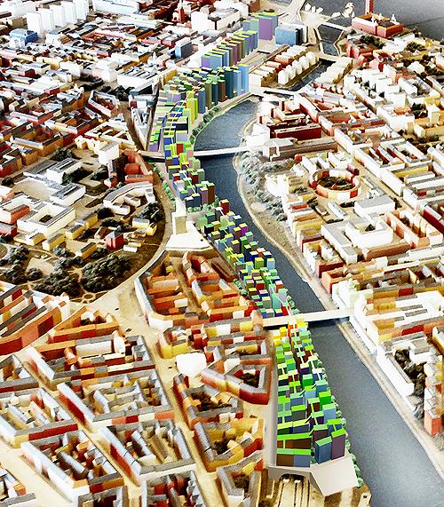 Área reurbanizada sobre a linha do trem na proposta de Anders Berensson (Divulgação)