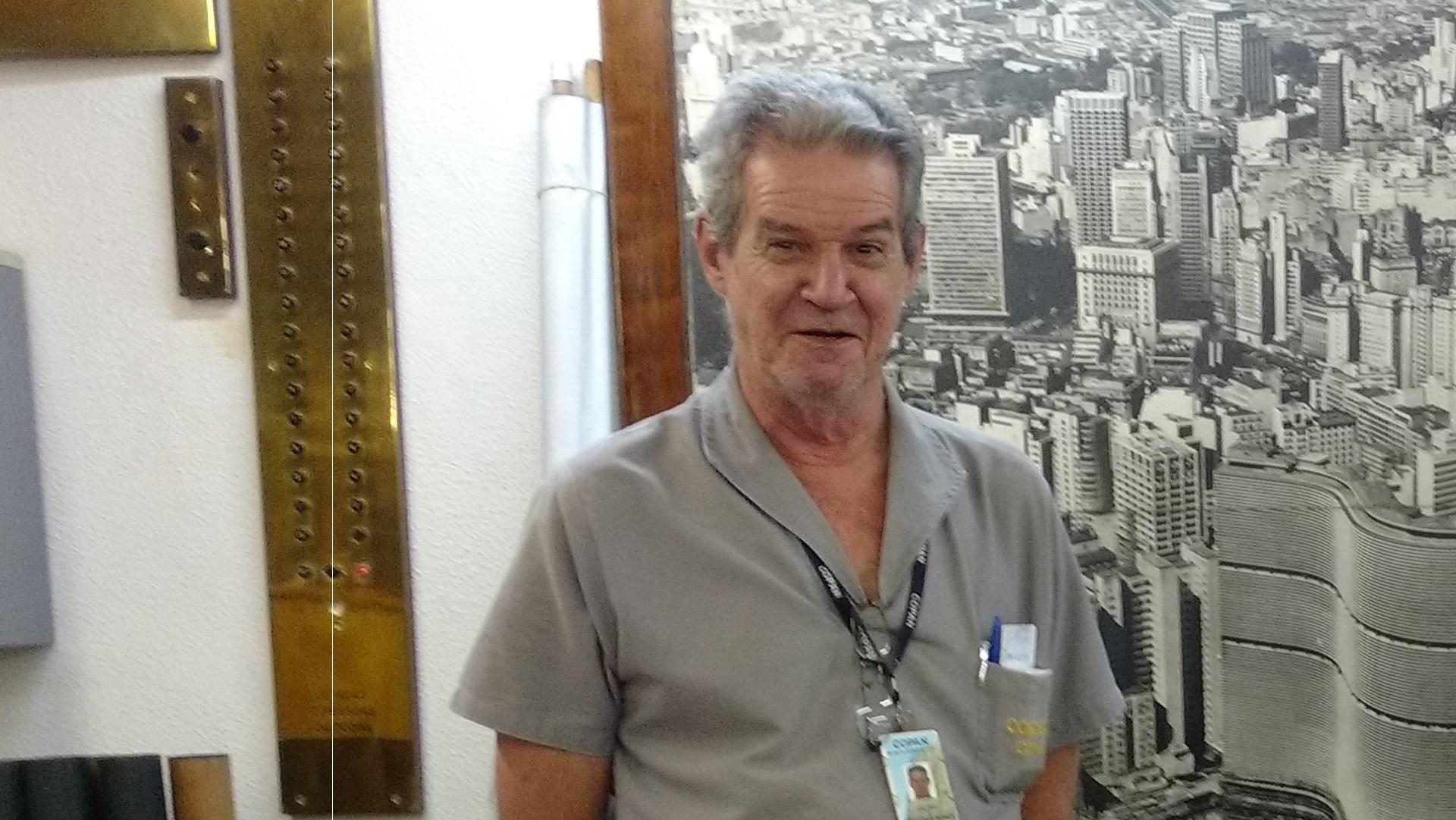 Valter Fedorenko, escarregado de manutenção e um dos primeiros moradores do Copan (Camila Montagner/Outra Cidade)