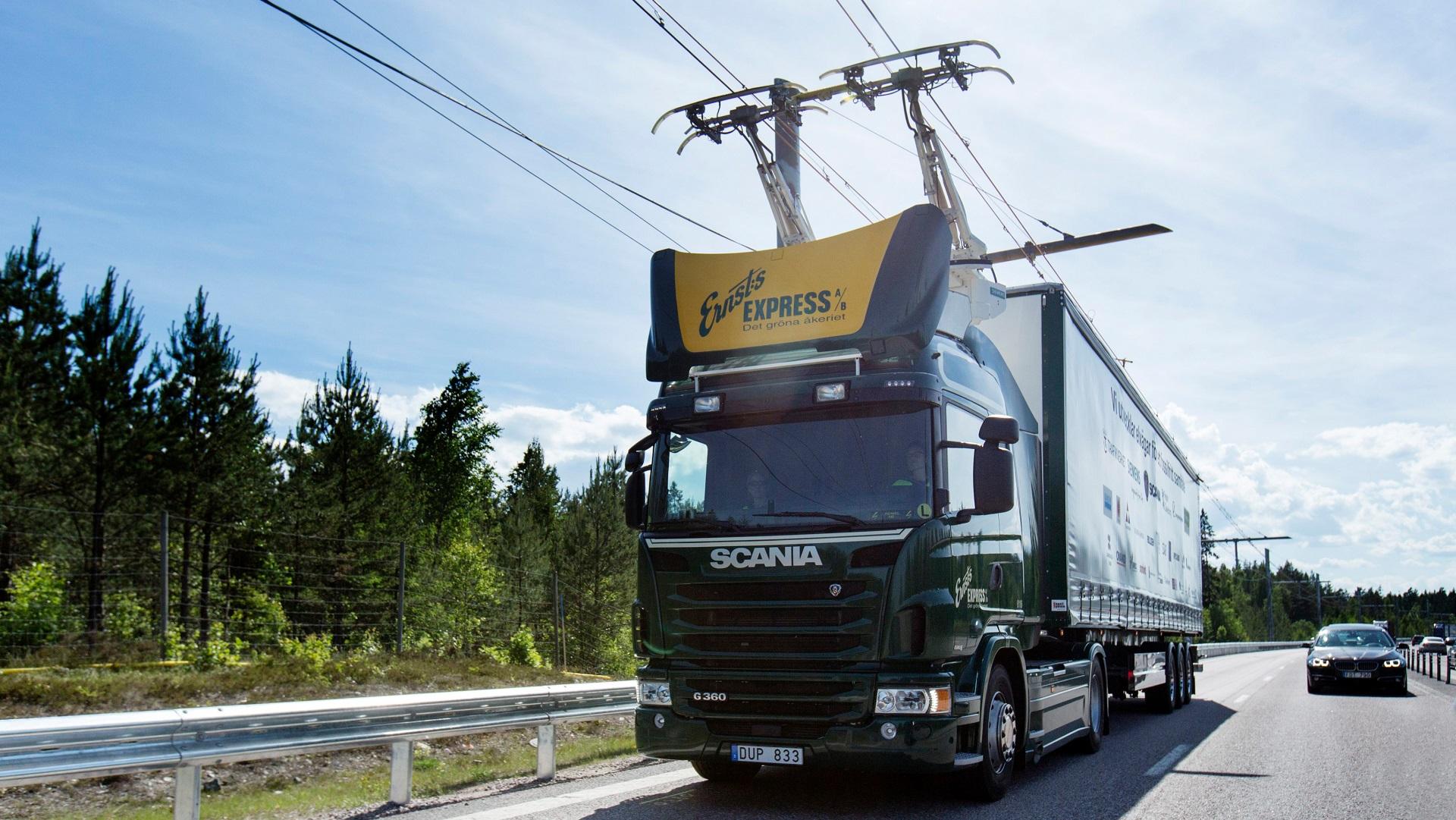 Caminhões híbridos adaptados poderão rodar a até 90 km/h (Siemens/Scania CV AB)